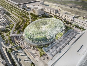 "Glass ""Air Hub"" for Singapore Changi Airport 