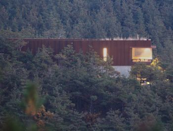 Mountain Pre-rusted Steel House | Seung H-Sang