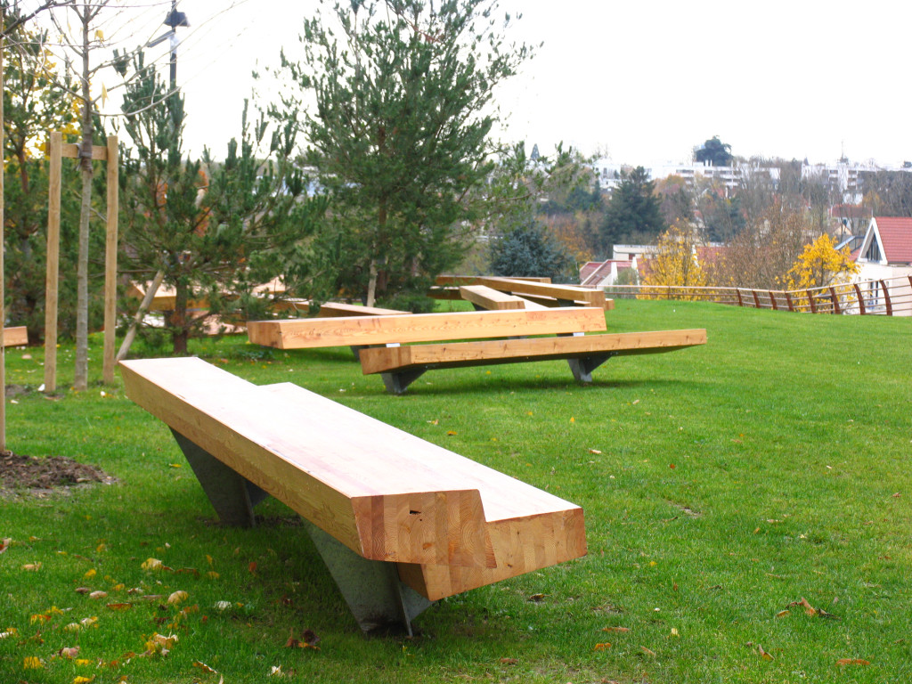 Modern Outdoor Table Bench Moderni