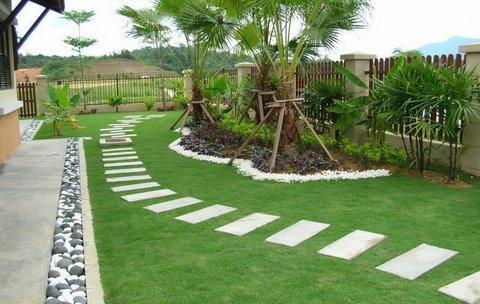 Modern garden moderni for Simple garden landscape ideas