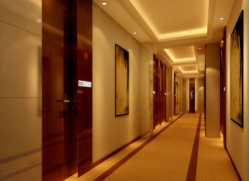 Modern corridor moderni research for Hotel wall design