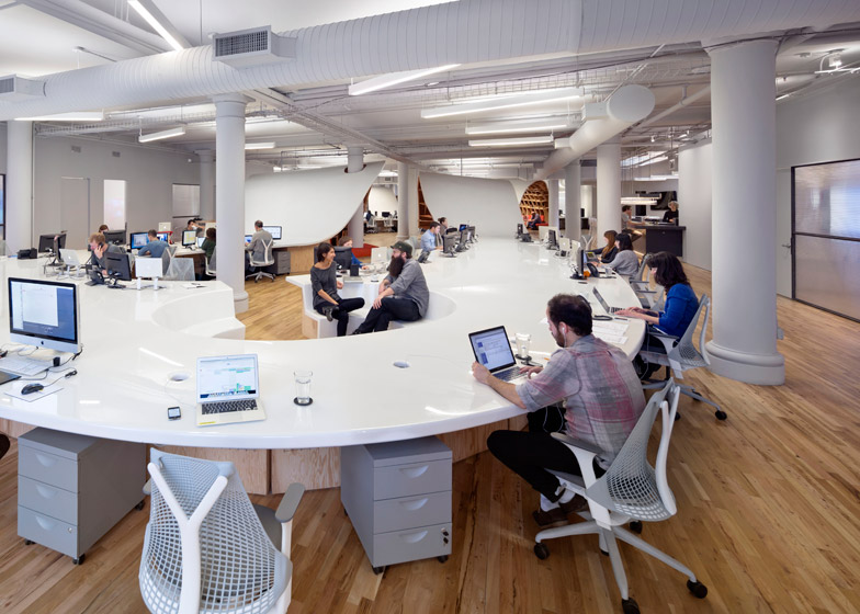 Barbarian group office clive wilkinson for Office design dezeen