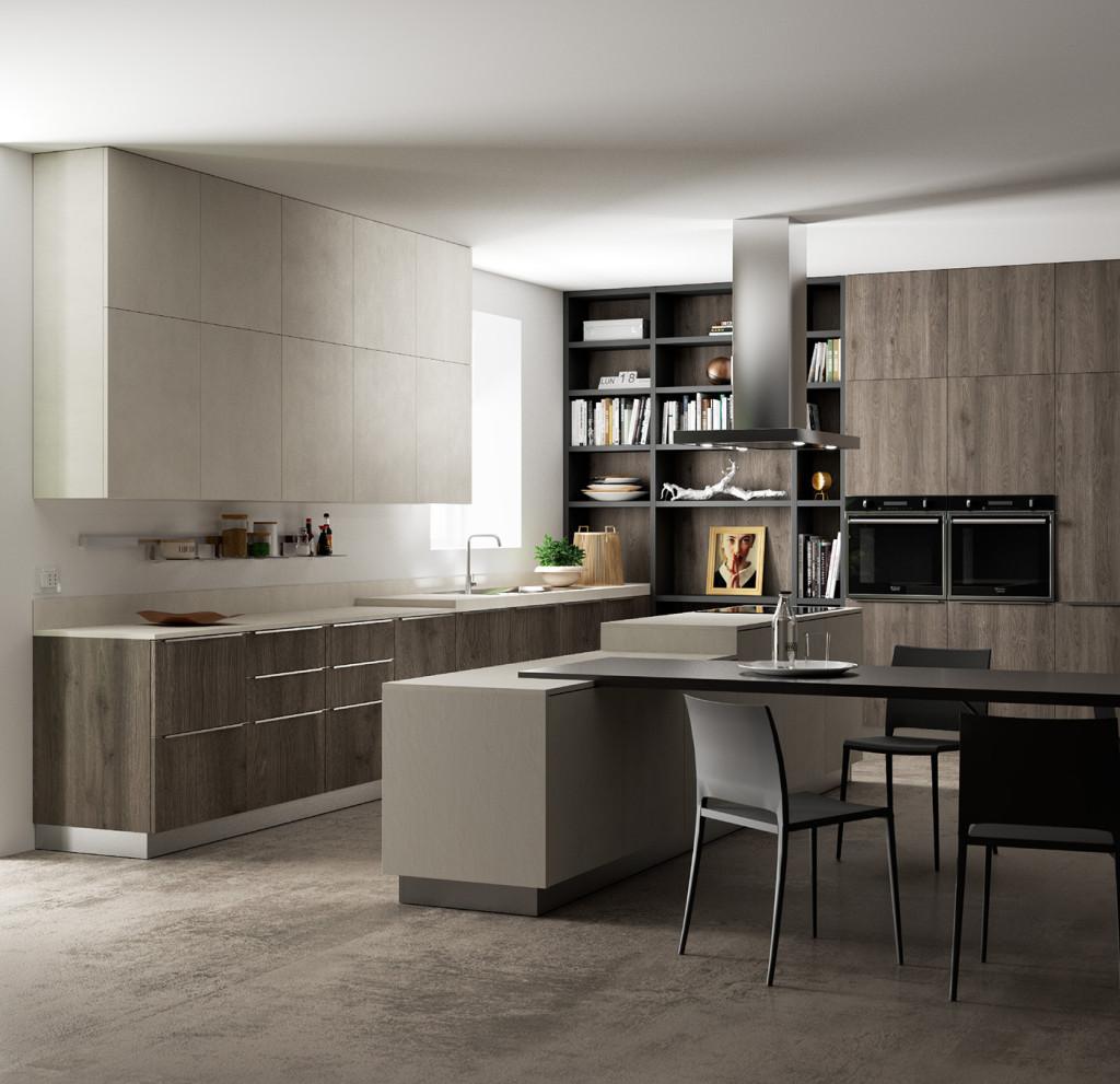 kitchen design rendering marco podrini
