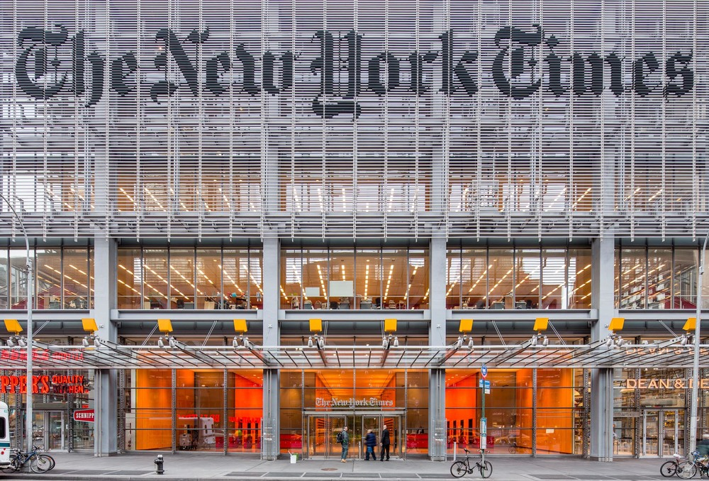 The New York Times Building Sunscreen Shildan Group