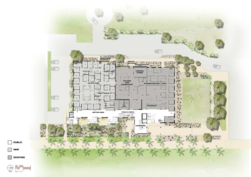 Asu health services building lake flato for Healthy house plans