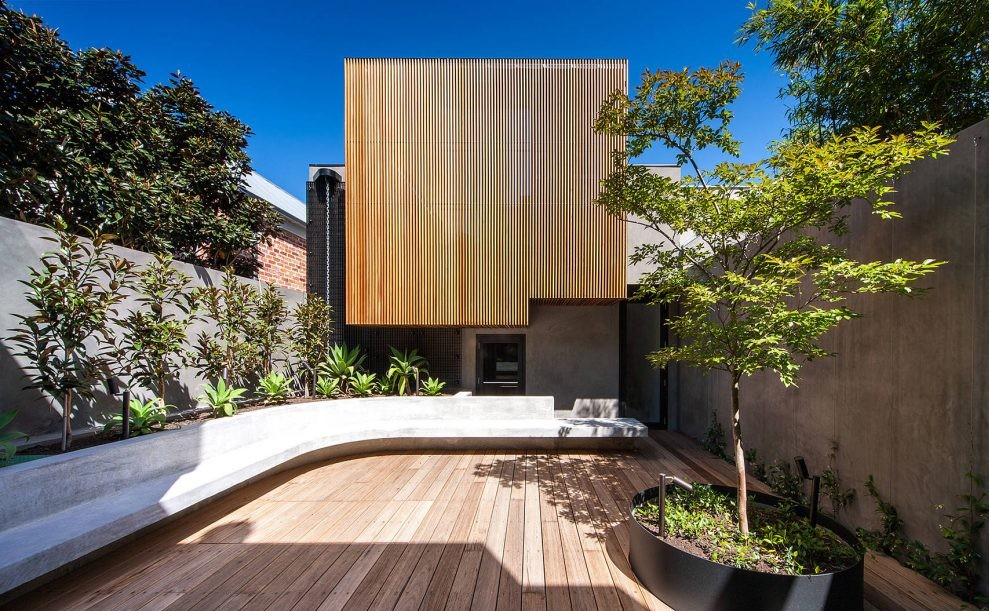 Wood Slats-Exterior-House in Melbourne  Nicholas Murray