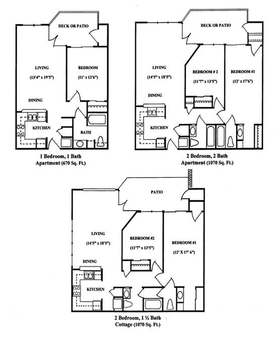 Senior Housing Apartment Floor Plans