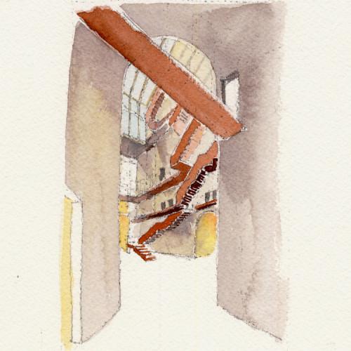 CEU_watercolour_interior_courtyard_study