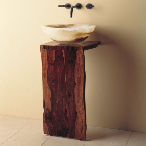 Stone-Forest-WD-05-30-Wood-L-slab-pedestal-with-white-onyx-urban-vessel-sink