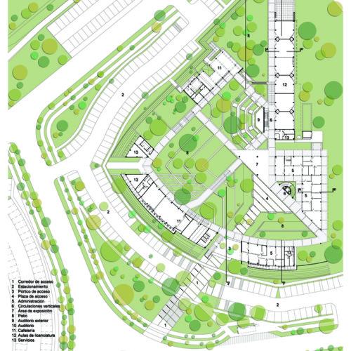23_Facultad_Educación_-_Planta_arquitectónica_1N