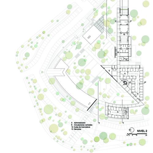 24_Facultad_Educación_-_Planta_arquitectónica_2N