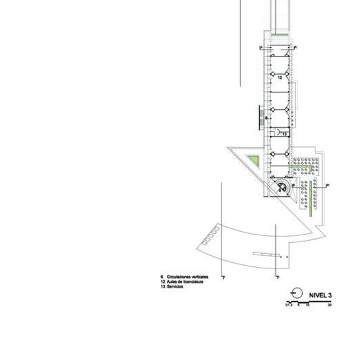 25_Facultad_Educación_-_Planta_arquitectónica_3N