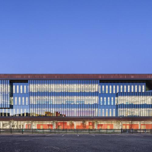 Nursing_and_Science_Building_Ext_Southwest_Elevation_Dusk