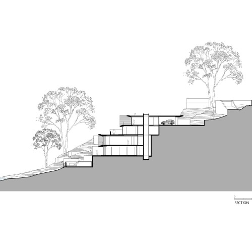 Koichi_Takada_Architects_Waterfront_Retreat_SOUTH_SECTION