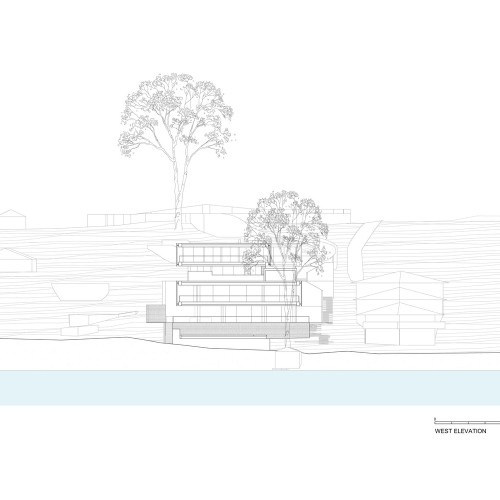 Koichi_Takada_Architects_Waterfront_Retreat_WEST_ELEVATION