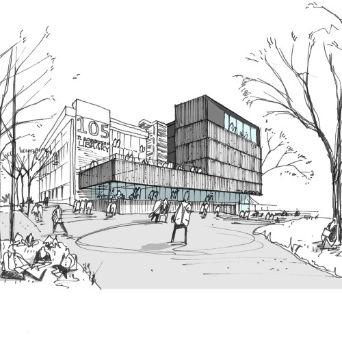 Curtin_University_Library_Sketch_©Schmidt_Hammer_Lassen_Architects