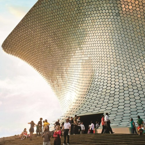 The recently completed Museo Soumaya Architect Fernando Romero. Mexico City.